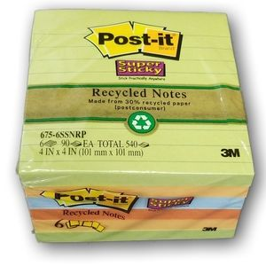 Post-it super sticky recycled notes 4 IN x 4 IN